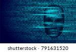 hacker artificial intelligence... | Shutterstock .eps vector #791631520