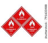 flammable sign icons set ... | Shutterstock .eps vector #791633488