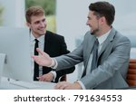 business people at work. two...   Shutterstock . vector #791634553