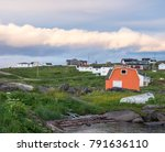 Red Bay, Labrador, Canada - the historic Red Bay, a Unesco World Heritage Site, where in the 16th c. Basque whalers from France and Spain were stationed.