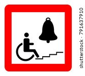 red square sign  handicapped in ... | Shutterstock .eps vector #791637910