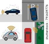 autonomus car design | Shutterstock .eps vector #791639776