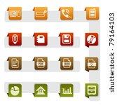 icon set  office | Shutterstock .eps vector #79164103