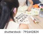 Small photo of Art workshop,organized group