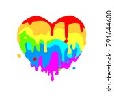 fluid heart of colored figures