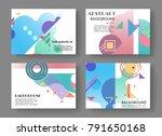 horizontal a4 modern abstract... | Shutterstock .eps vector #791650168
