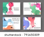 horizontal a4 modern abstract... | Shutterstock .eps vector #791650309
