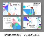 horizontal a4 modern abstract...   Shutterstock .eps vector #791650318