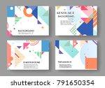 horizontal a4 modern abstract... | Shutterstock .eps vector #791650354