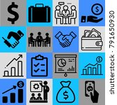 business vector icon set... | Shutterstock .eps vector #791650930