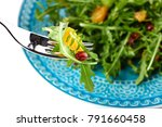 fresh salad with rocket ... | Shutterstock . vector #791660458