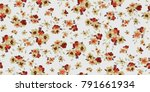 seamless floral pattern in... | Shutterstock .eps vector #791661934