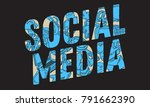 social media design with... | Shutterstock .eps vector #791662390