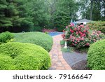 manicured backyard ornamental... | Shutterstock . vector #79166647