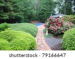 manicured backyard ornamental... | Shutterstock . vector #79166647