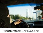 saudi woman driving a car in... | Shutterstock . vector #791666470