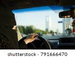 saudi woman driving a car in... | Shutterstock . vector #791666470