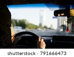 saudi woman driving a car in... | Shutterstock . vector #791666473