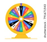 realistic spinning fortune...   Shutterstock .eps vector #791671543