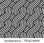 abstract artistic wicker... | Shutterstock .eps vector #791674849