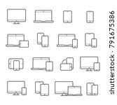 device line icon set. portable... | Shutterstock .eps vector #791675386