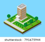 picture of appartent house with ... | Shutterstock .eps vector #791675944