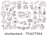 set of cute hand drawn elements ...
