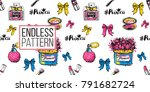 vector seamless pattern with... | Shutterstock .eps vector #791682724