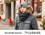 handsome young man in a... | Shutterstock . vector #791688688