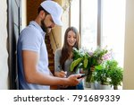Flowers Delivery Service. Woma...