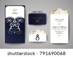 wedding invitation or greeting... | Shutterstock .eps vector #791690068