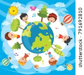 vector illustration of world... | Shutterstock .eps vector #791692810