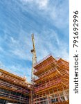 construction site with crane... | Shutterstock . vector #791692996