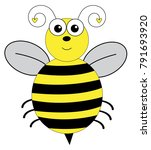 cute insect bumblebee | Shutterstock . vector #791693920
