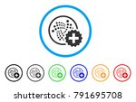 create iota rounded icon. style ... | Shutterstock .eps vector #791695708