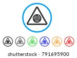 iota danger rounded icon. style ... | Shutterstock .eps vector #791695900