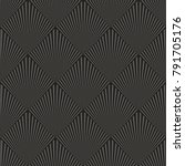 art deco seamless pattern... | Shutterstock .eps vector #791705176