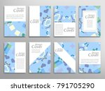 set of a4 cover  abstract... | Shutterstock .eps vector #791705290