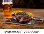beer being poured into glass... | Shutterstock . vector #791709004