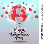 happy valentine's day greeting... | Shutterstock .eps vector #791719018