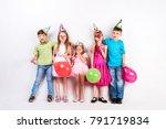 cute children celebrating... | Shutterstock . vector #791719834