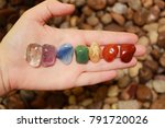 chakras stones to heal | Shutterstock . vector #791720026
