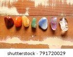 chakras stones to heal | Shutterstock . vector #791720029
