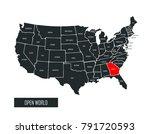 usa vector map | Shutterstock .eps vector #791720593