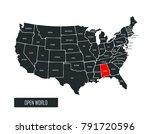 usa vector map | Shutterstock .eps vector #791720596