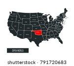 usa vector map | Shutterstock .eps vector #791720683
