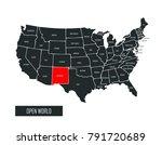 usa vector map | Shutterstock .eps vector #791720689