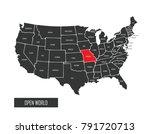 usa vector map | Shutterstock .eps vector #791720713
