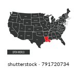 usa vector map | Shutterstock .eps vector #791720734
