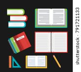 books and notebook concept... | Shutterstock .eps vector #791721133